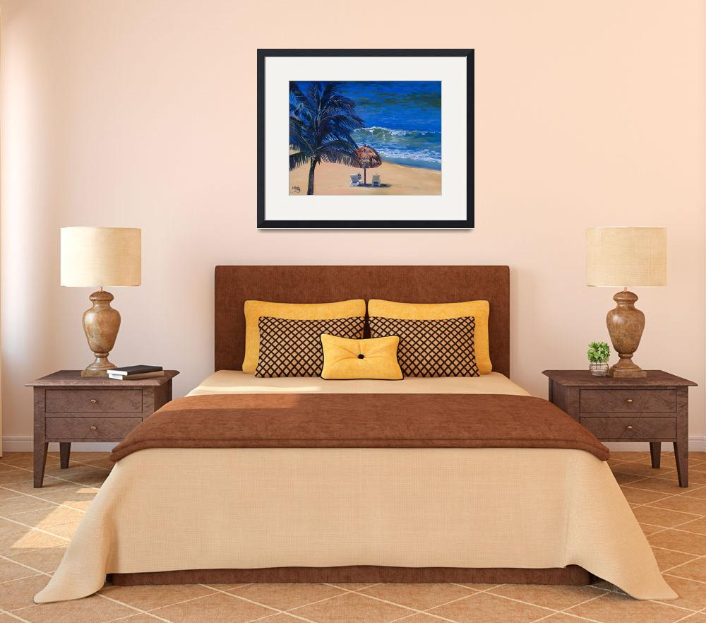 """Keating Fine Art Print: Mexico Beach Palapa, Huatu&quot  (2007) by KeatingArt"