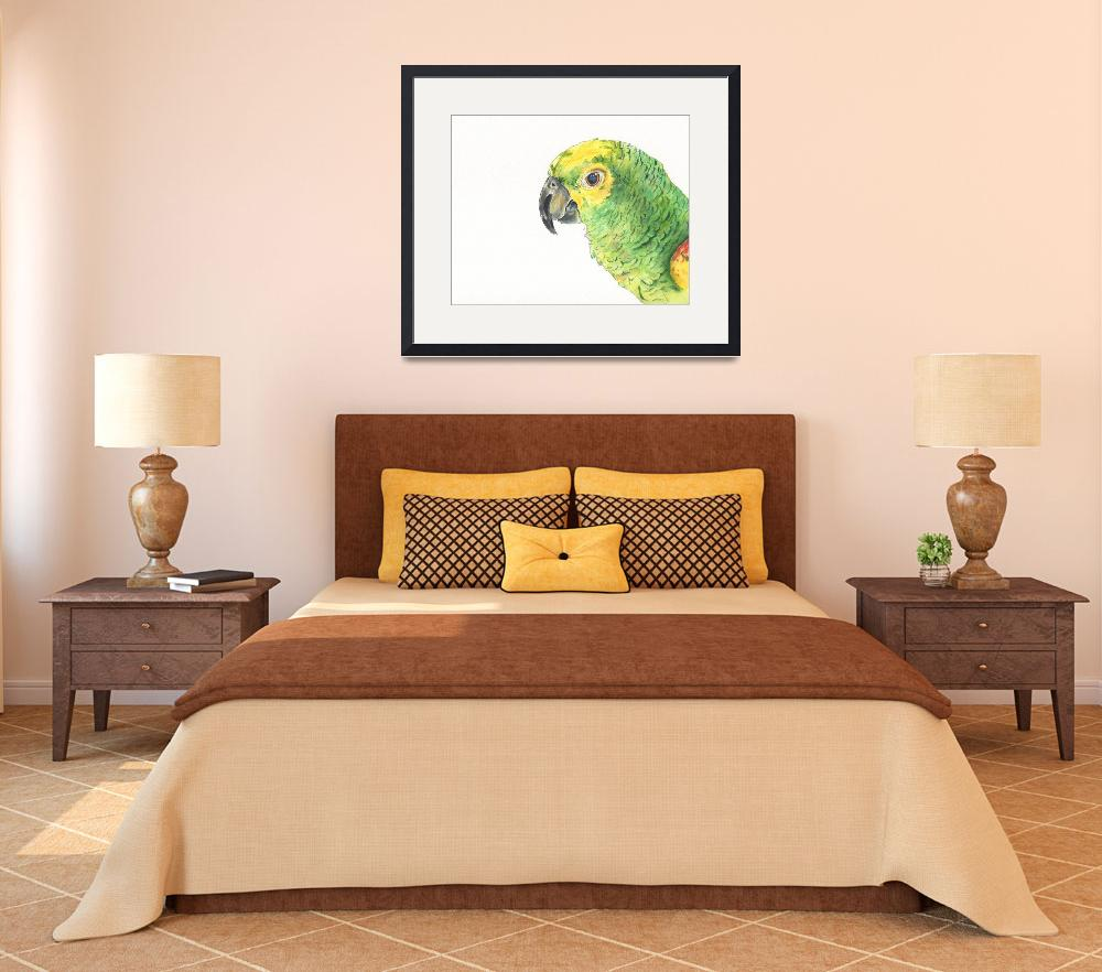 """Hector the Kooky Kindred Parrot&quot  (2014) by Designomel"