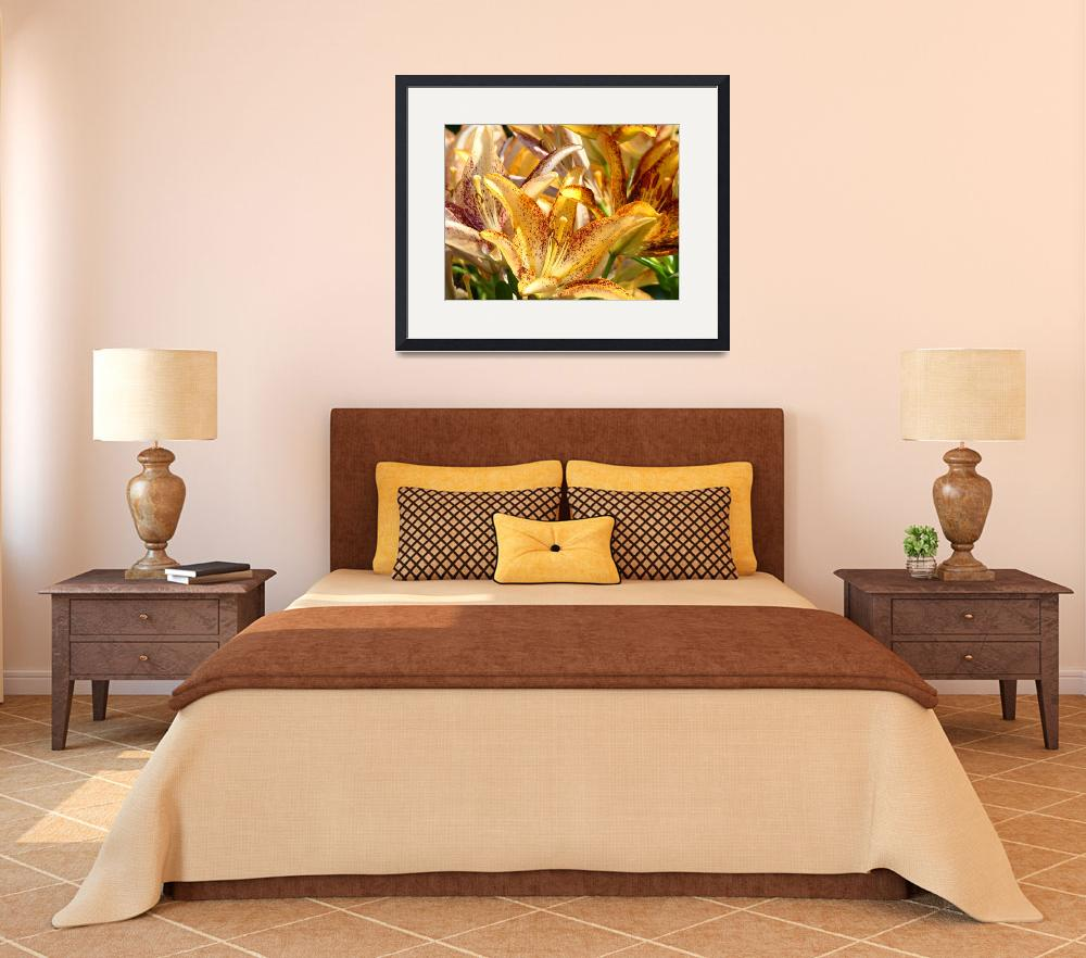 """Holiday Lilies Floral art prints Orange Lily print""  (2010) by BasleeTroutman"