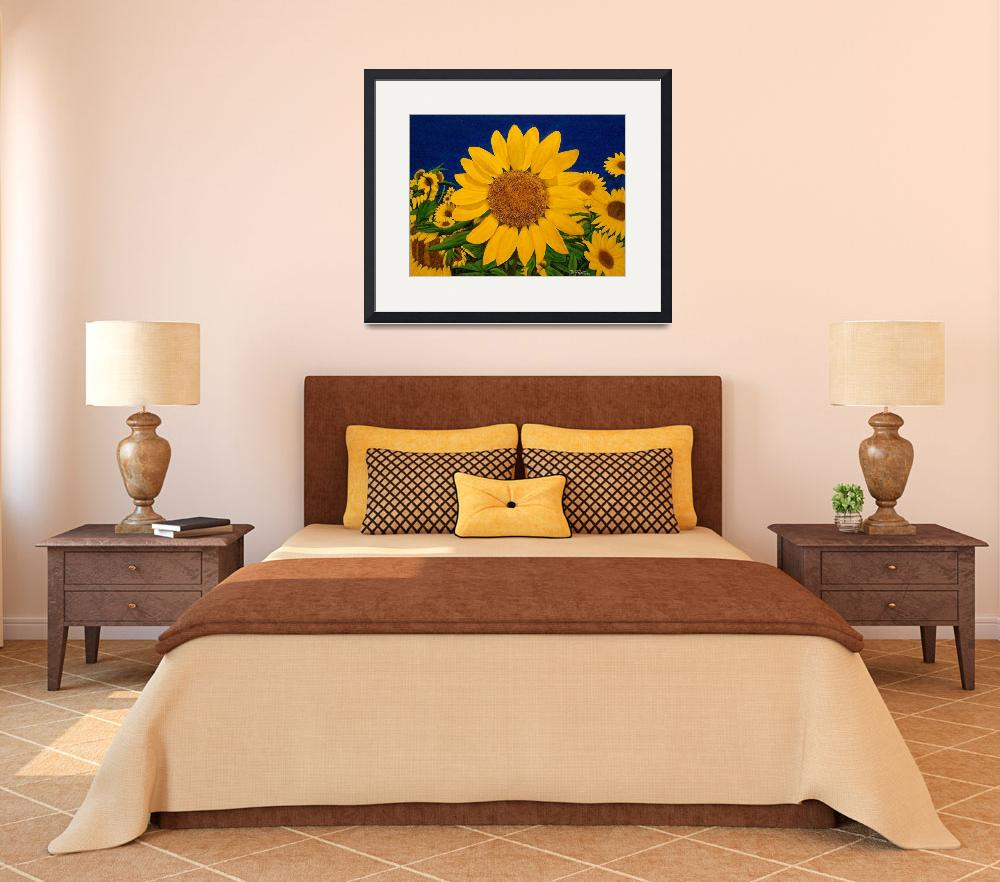 """""""SUDDENLY SUNFLOWERS&quot  (2010) by terryhuey"""
