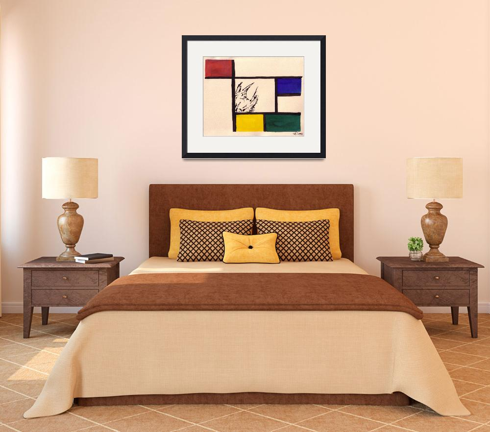 """""""Hanging Out with Mondrian""""  (2008) by mirandaolson"""