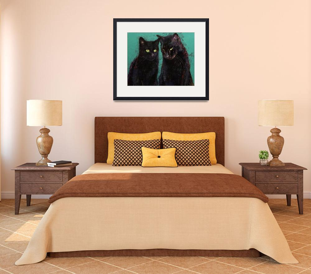 """""""Two Black Cats""""  by creese"""