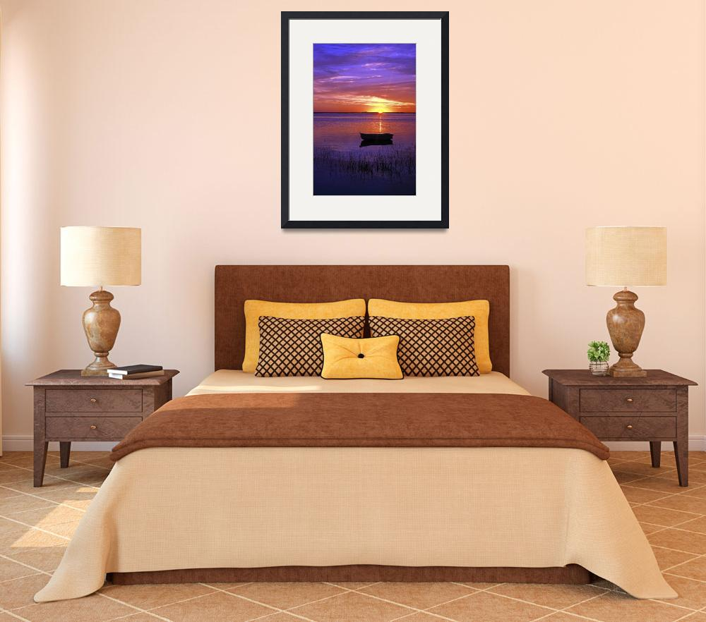 """""""Sunrise over Nauset Harbor, Cape Cod""""  (2007) by CapeLight"""