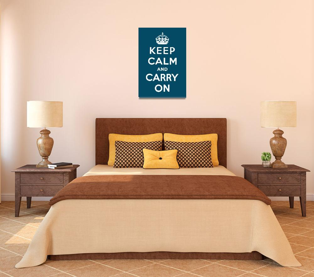 """""""Blue Keep Calm And Carry On 3""""  by oldies"""