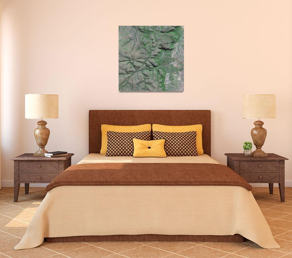 """Drakensberg (South Africa) : Satellite Image""  (2006) by astriumgeo"