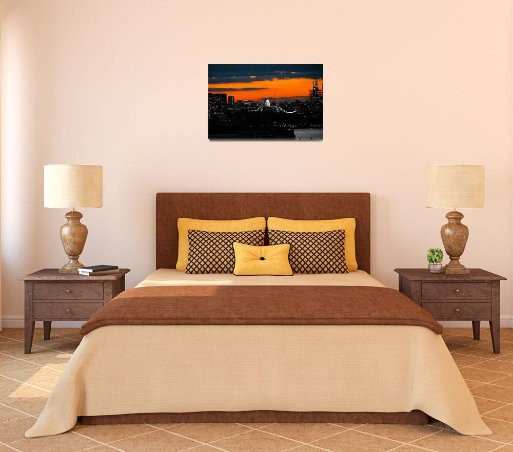 """Orange sky over St Paul"