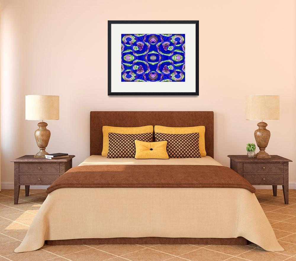 """""""Blue pattern""""  (2009) by DonnaGrayson"""