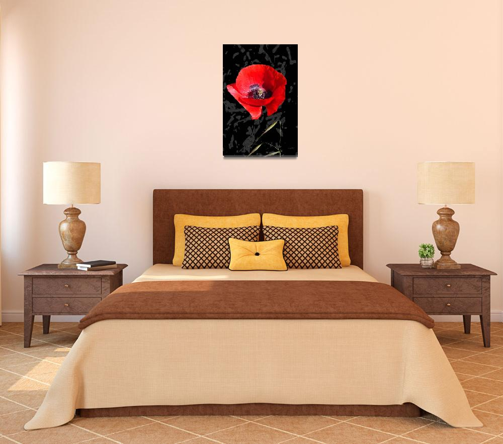 """Red on black""  (2008) by AffreEisenlohr"