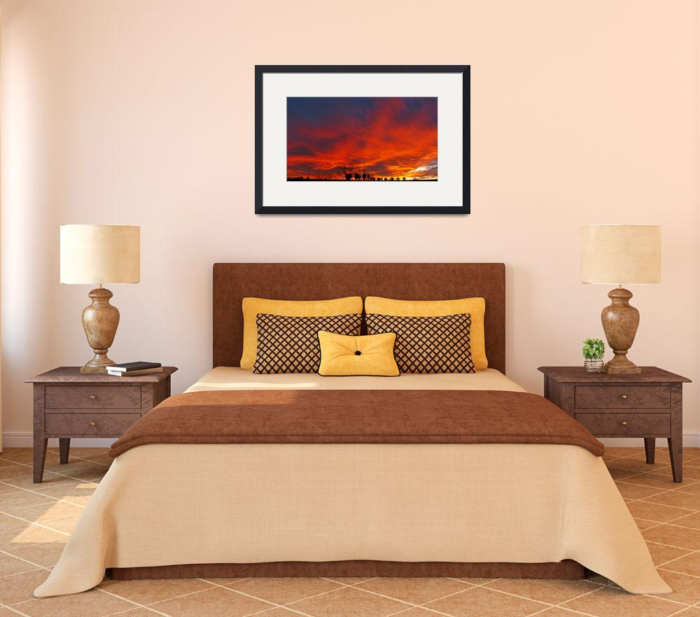 """""""Redd Road Sunset Panorama&quot  (2009) by MarksClickArt"""