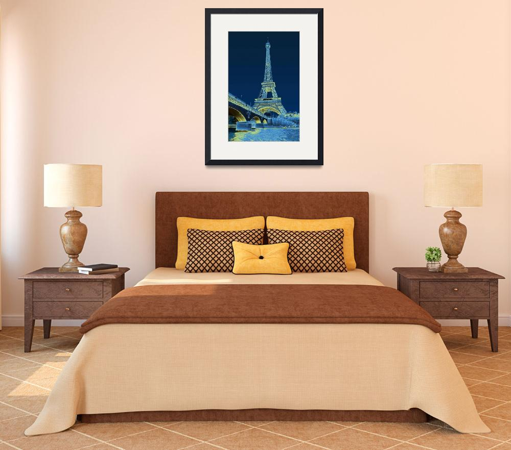"""Eiffel Tower Poster&quot  by GordonBeck"