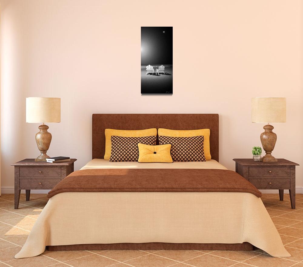 """Venus Night Beach Chairs&quot  (2010) by Art_By_Design_Studio"