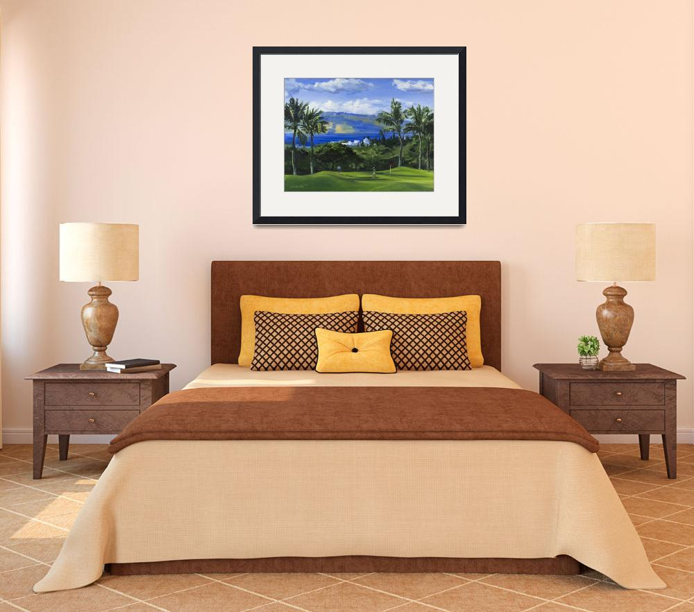 """""""Twosome on Green at Wailea Golf Club in Maui&quot  (2013) by KeatingArt"""