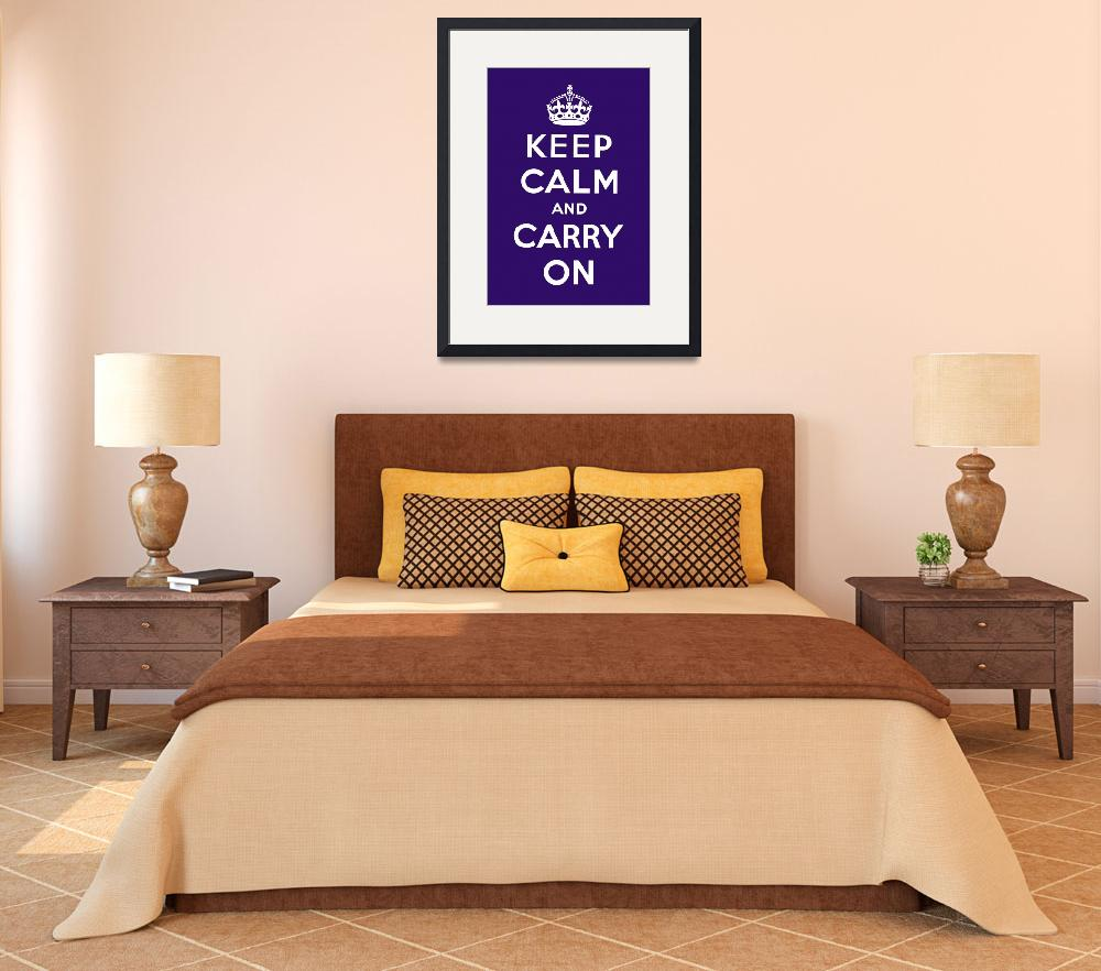 """Purple Keep Calm And Carry On&quot  by oldies"