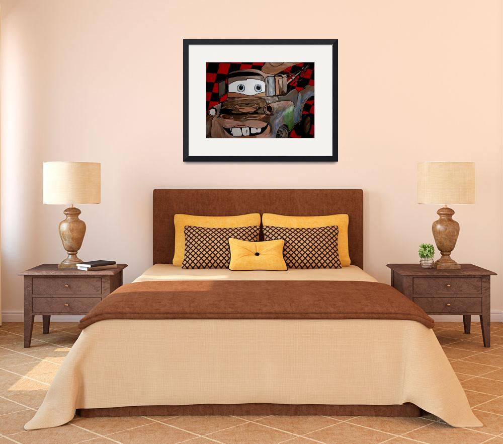 """""""Tow Mater&quot  (2010) by markmooreart"""