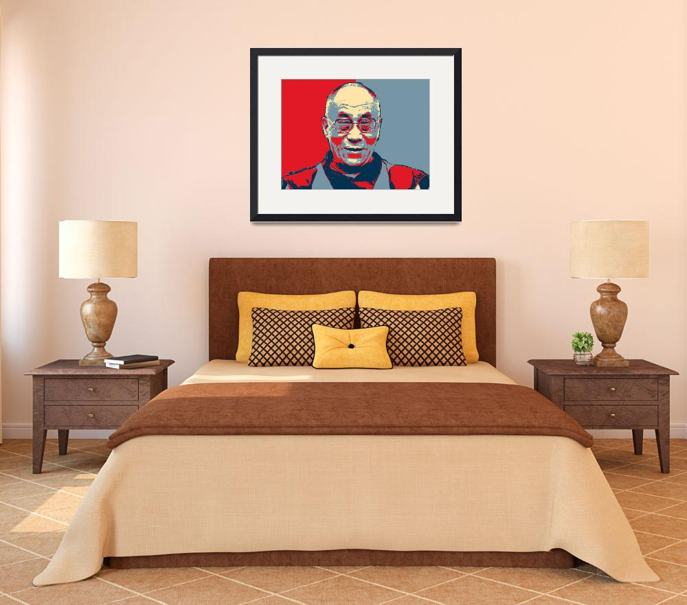 """dalai lama hope poster&quot  by motionage"