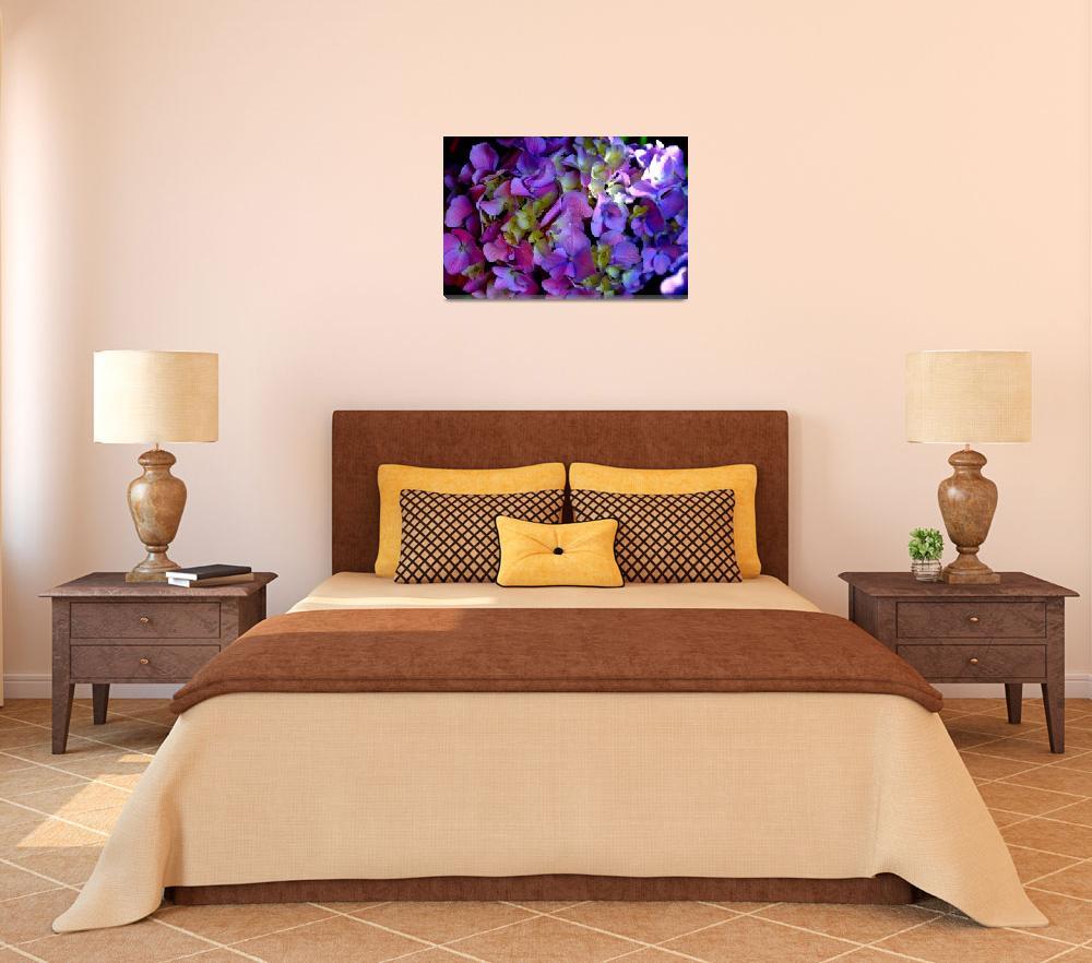 """""""Purple Hydrangeas""""  by FlyingSwanStudio"""