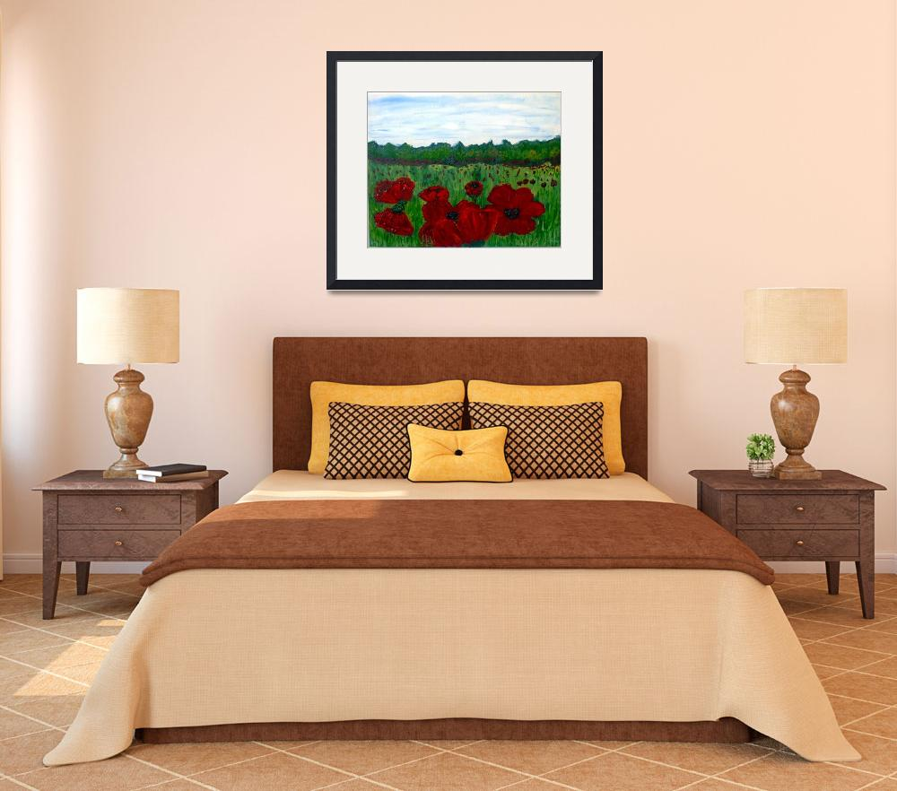 """North Carolina Poppies In The field&quot  (2009) by scrapydapy"