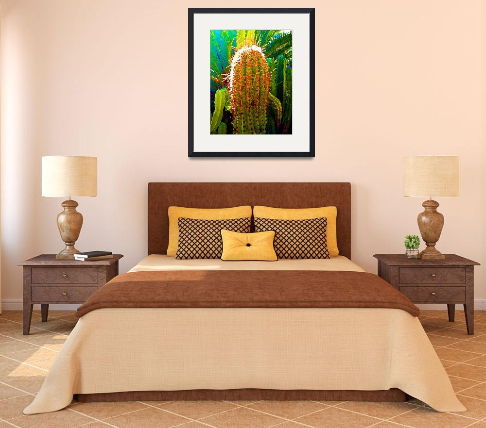"""Backlit Cactus&quot  by AmyVangsgard"