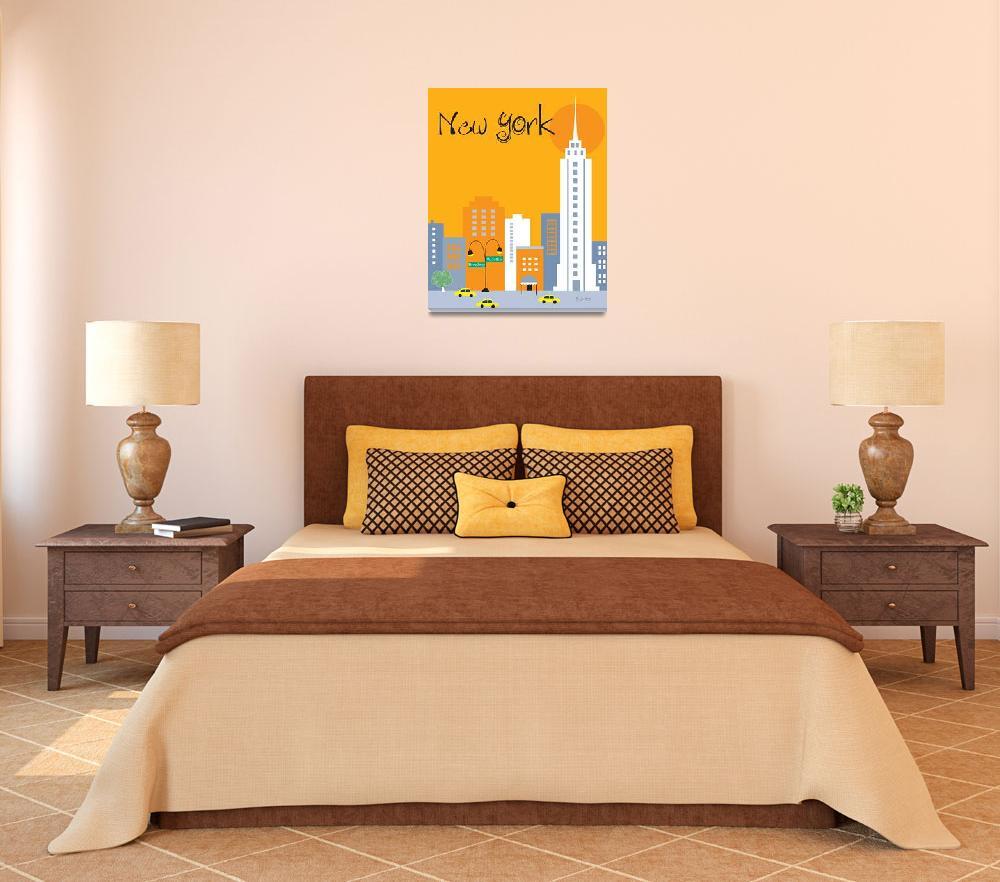 """New York City, New York - Orange""  (2011) by loosepetals"