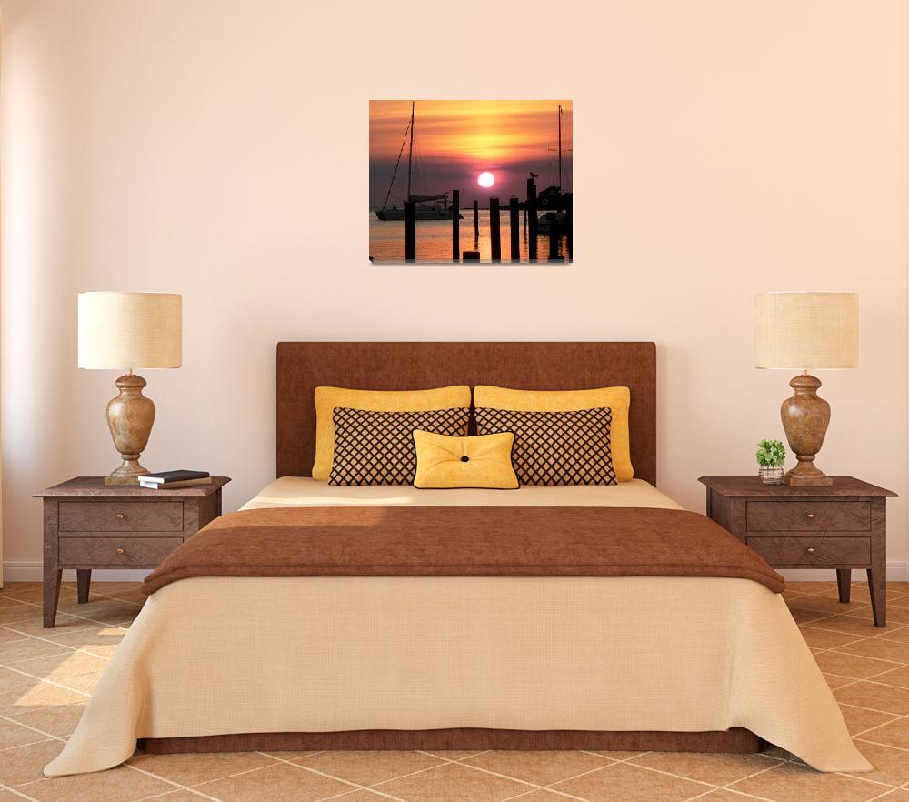 """Ocracoke Island Sunset&quot  (2007) by rayjacque"