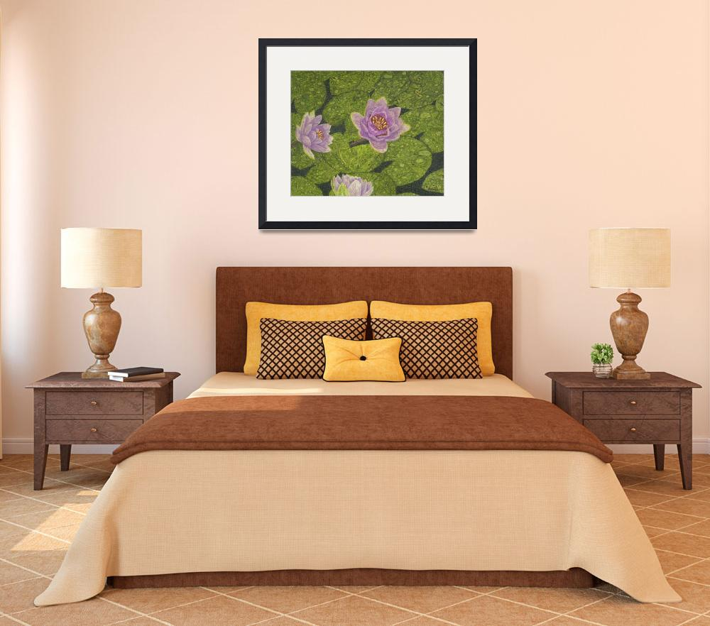"""""""Fine Art Prints Water Lilies Wall Art Lily Lotus&quot  by BasleeTroutman"""