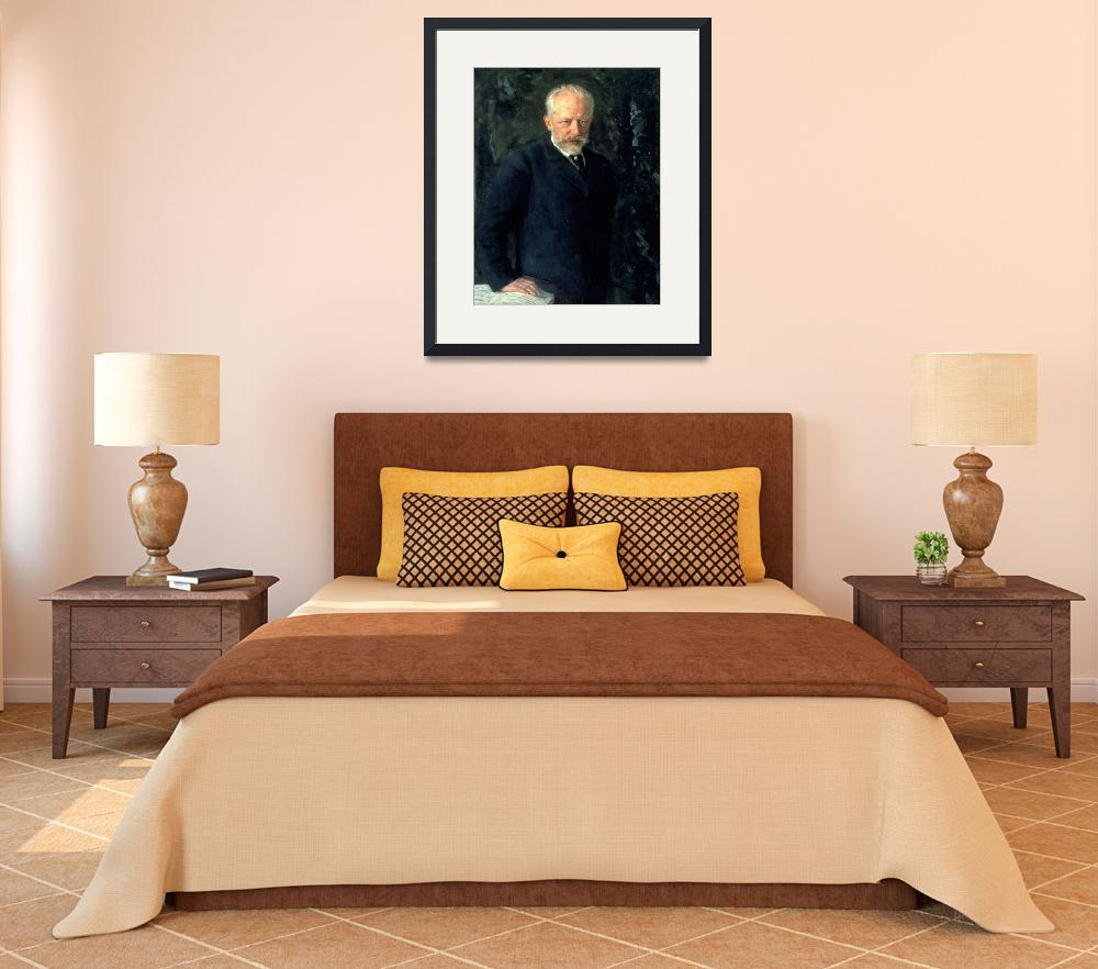 """Portrait of Piotr Ilyich Tchaikovsky&quot  by fineartmasters"
