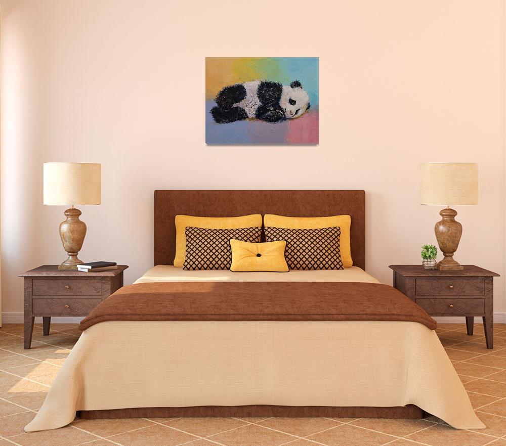 """Baby Panda Rainbow&quot  by creese"