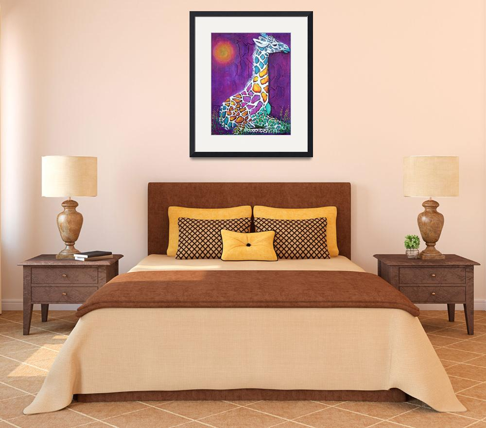 """Giraffe of Many Colors""  (2014) by ArtPrints"