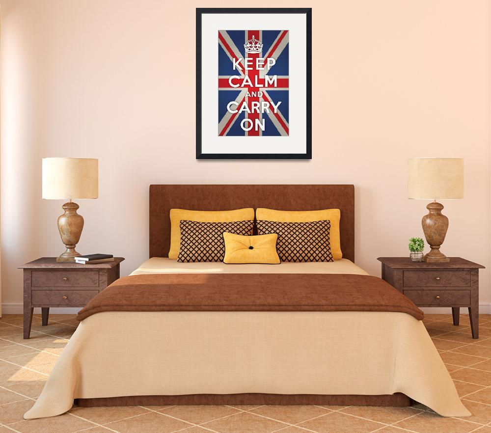 """""""Keep Calm and Carry with Union Jack&quot  by jvorzimmer"""