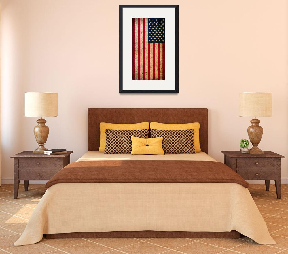 """""""Vintage American Flag&quot  (2016) by smyrna"""