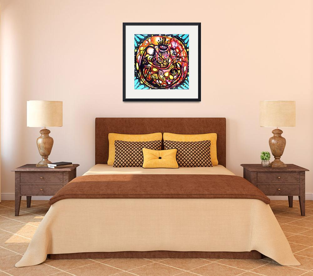"""""""Cardio Mandala&quot  (2011) by larrycalabrese"""
