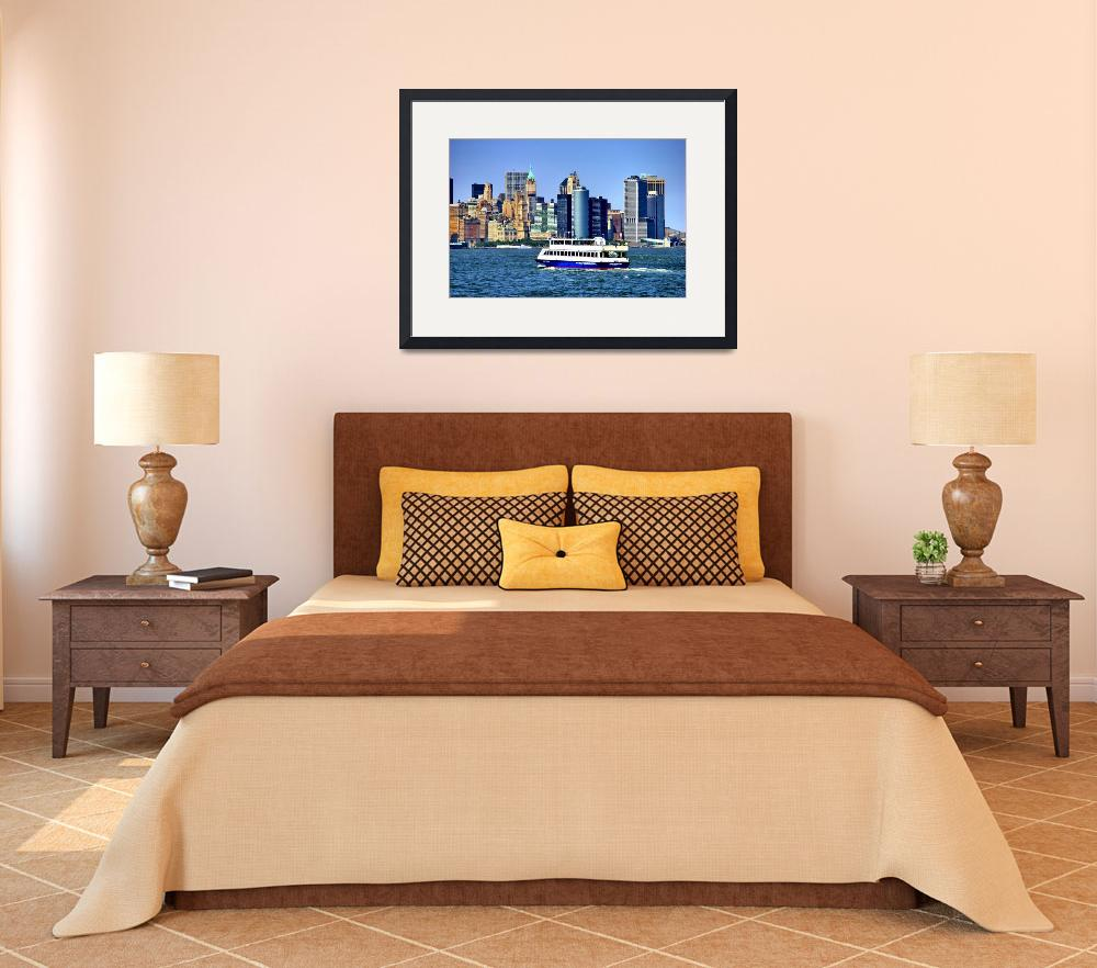 """Lower Manhattan View from Hudson Harbor&quot  (2009) by New-Yorkled"