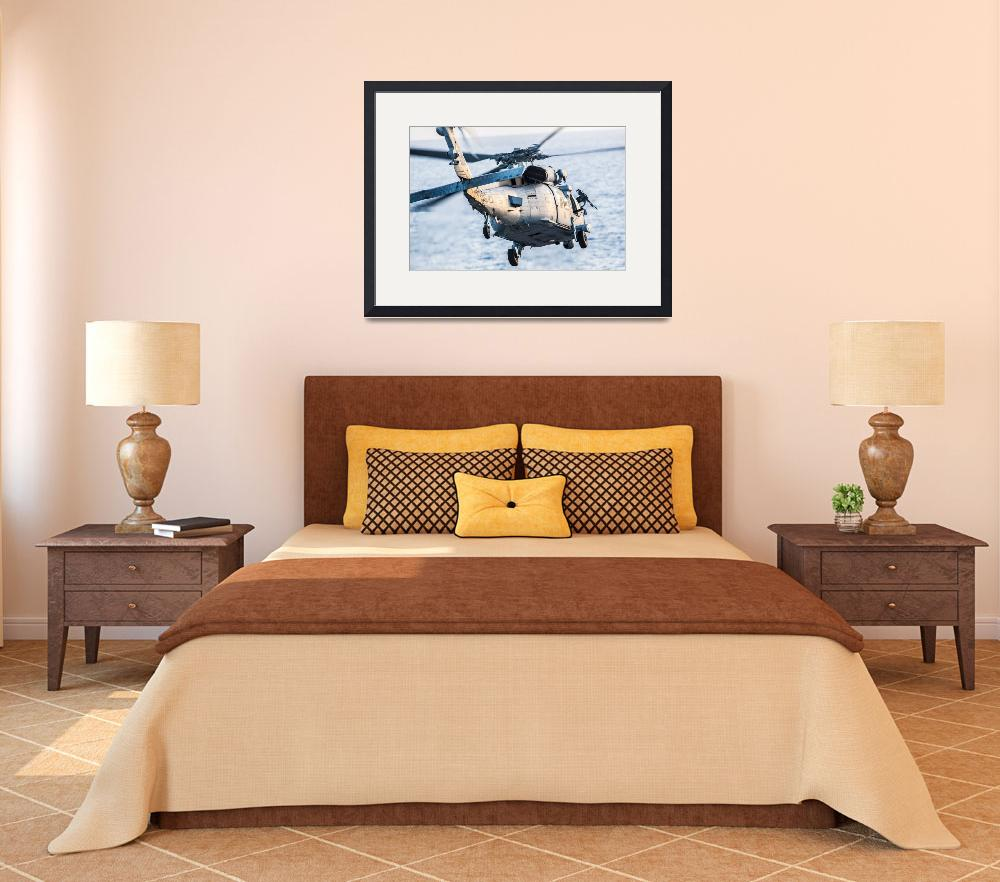 """""""An MH-60S Sea Hawk helicopter&quot  by motionage"""