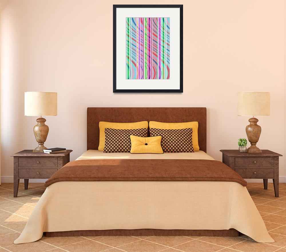 """Candy Stripe (digital) by Louisa Knight""  by fineartmasters"