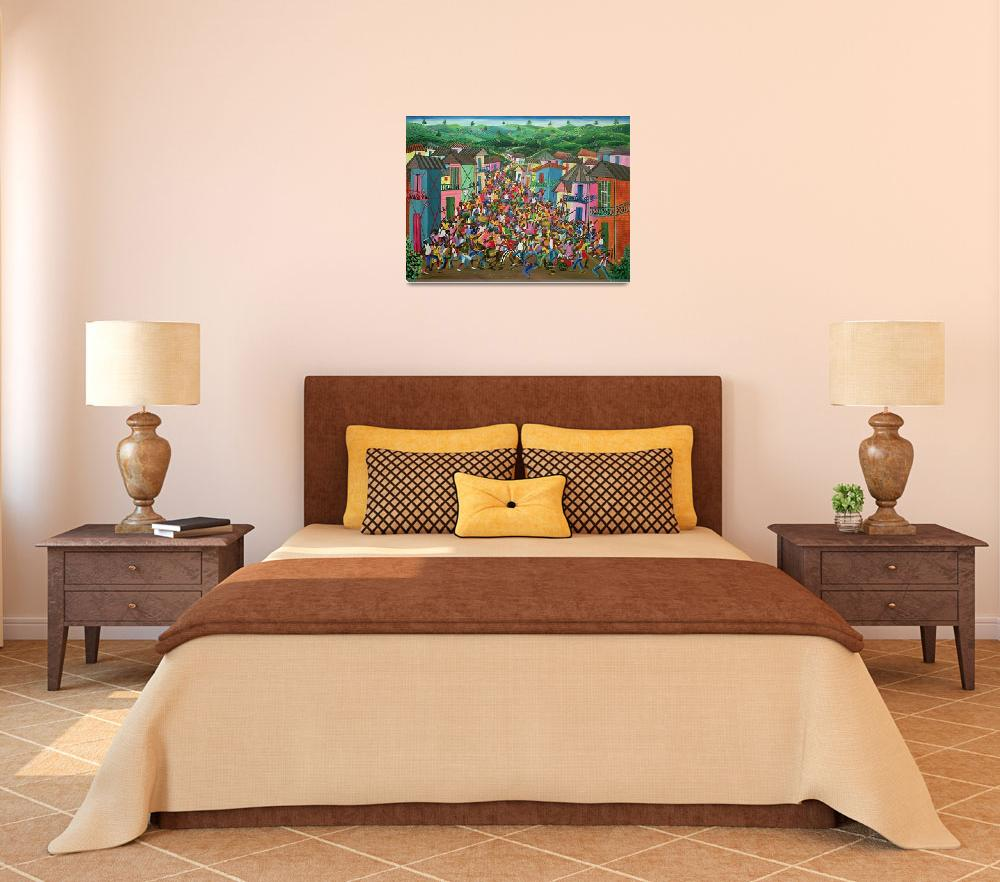 """""""Village Festival, Haiti by Inatace Alphonse&quot  by fineartmasters"""