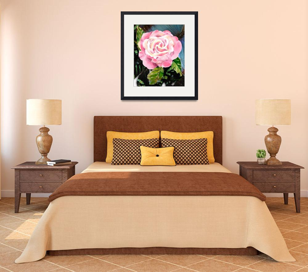 """""""Pink Rose&quot  by awagner"""