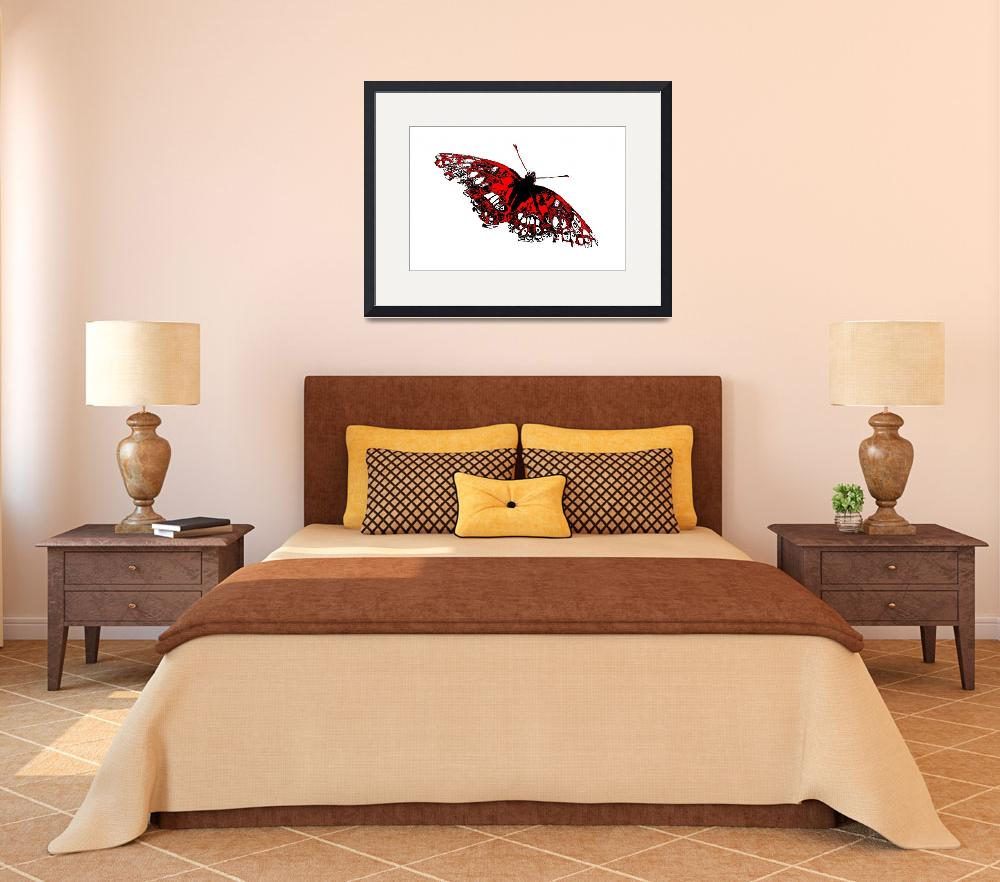 """""""Butterfly - Black White And Red Series&quot  (2013) by bettynorthcutt"""