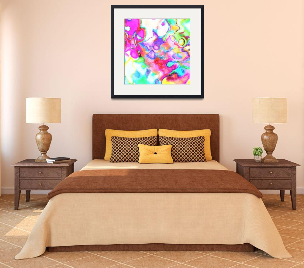 """""""Watercolour Abstract with Pink&quot  by Prawny"""