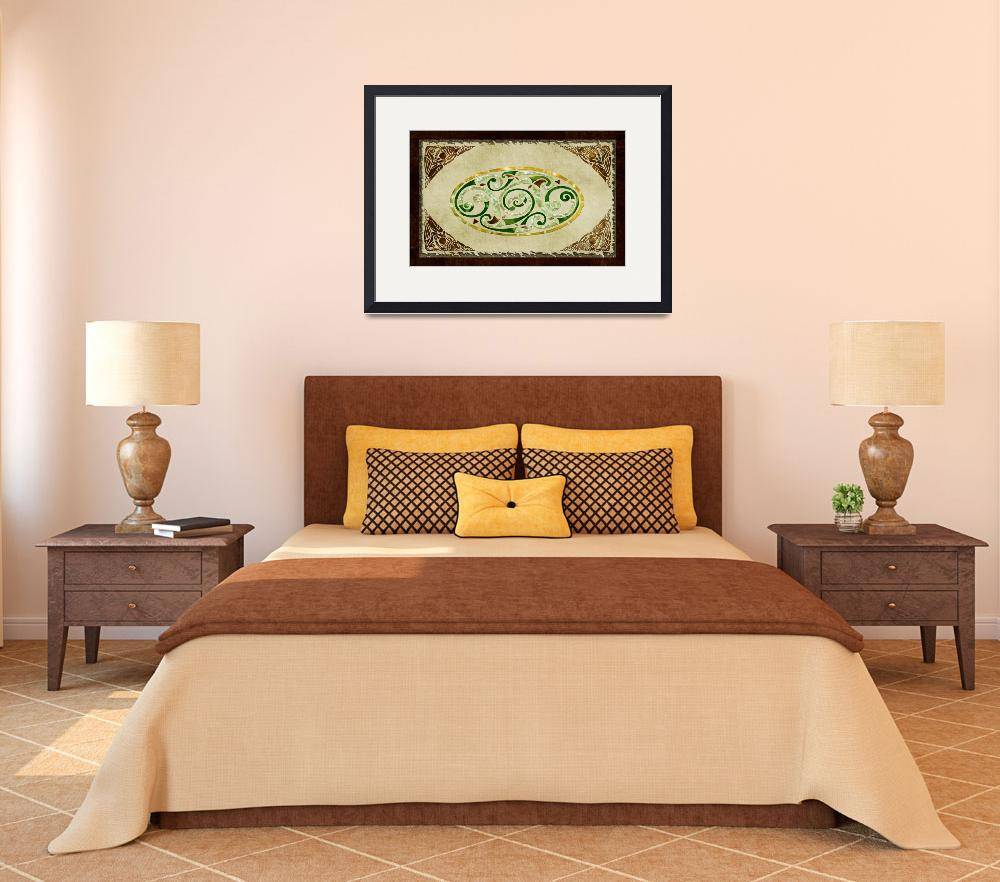 """""""Celtic Old Traditional Tapestry Folk Motif""""  (2012) by ReneeLozenGraphics"""