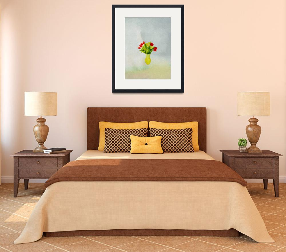 """""""spring flowers with yellow vase""""  (2012) by eydiHB"""