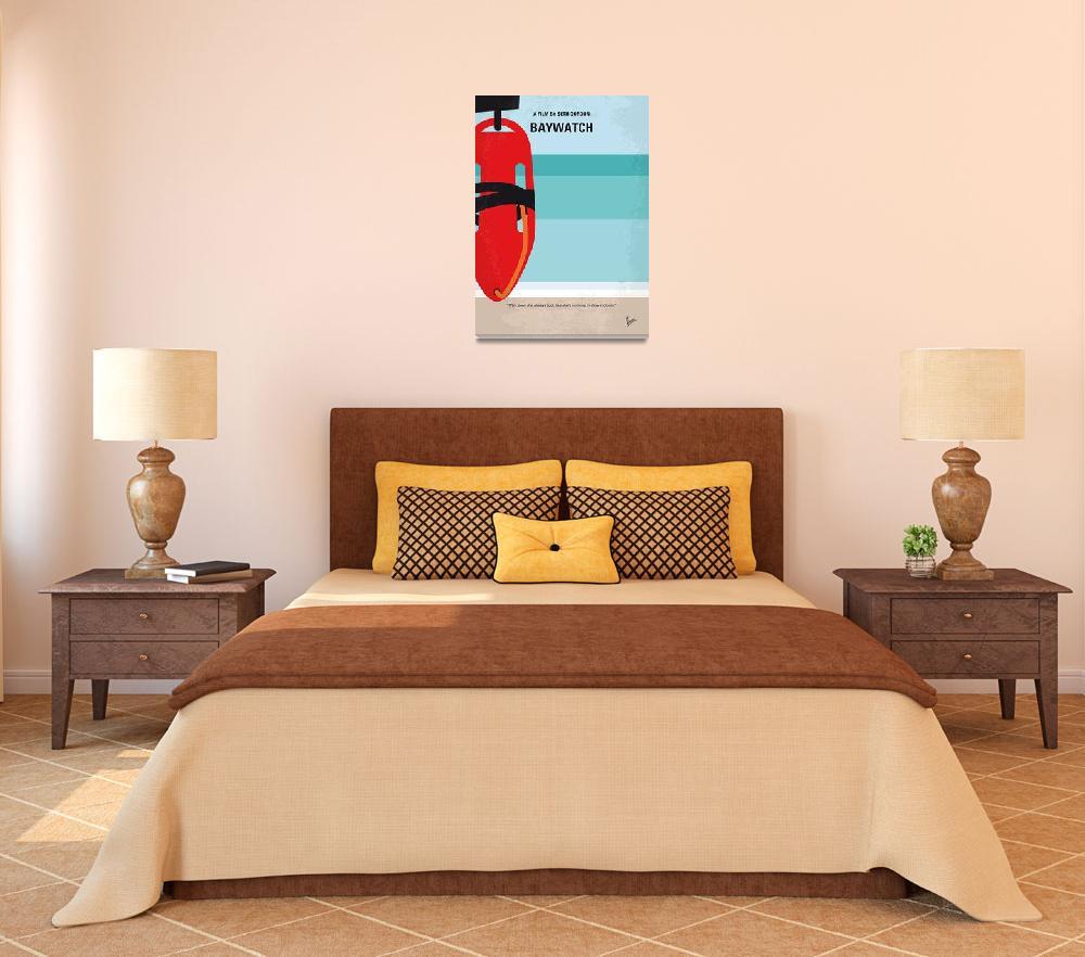 """No730 My Baywatch minimal movie poster""  by Chungkong"