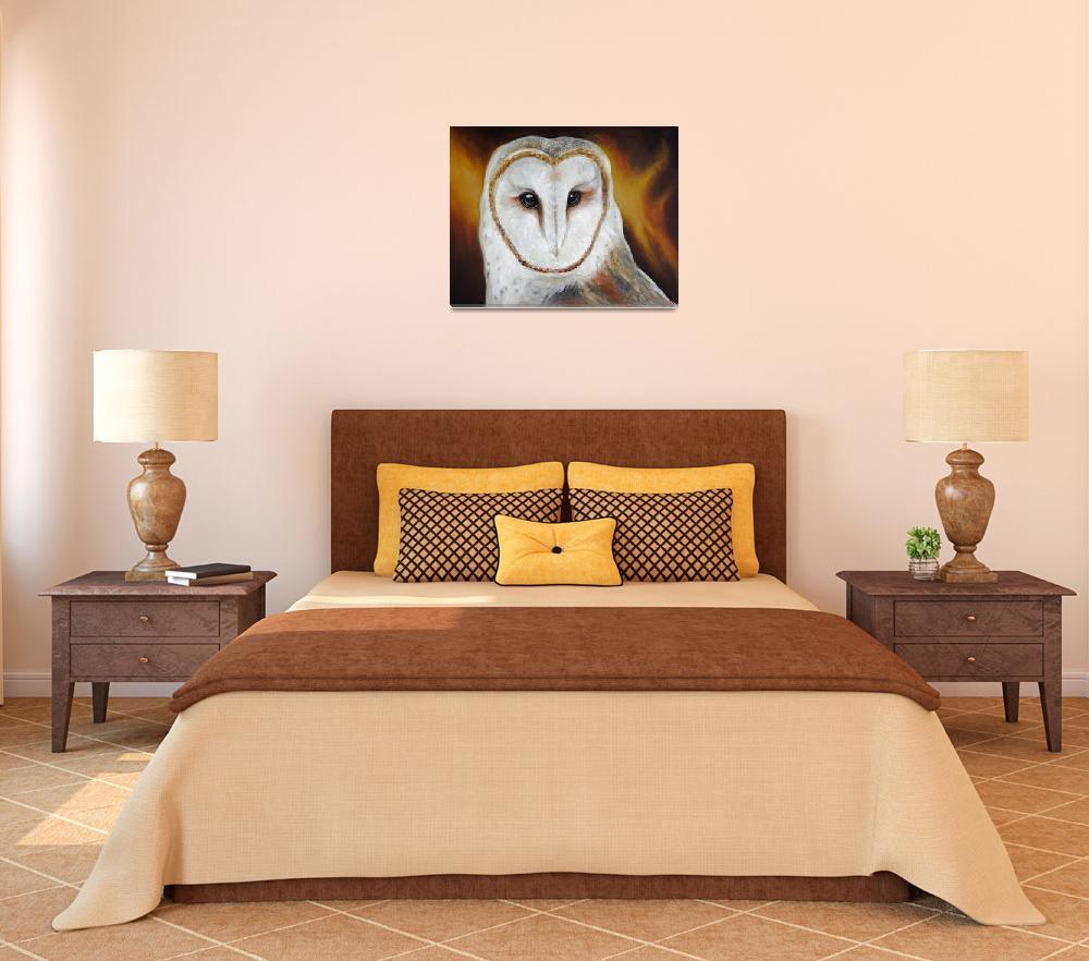 """Barn Owl&quot  (2011) by artdeep"