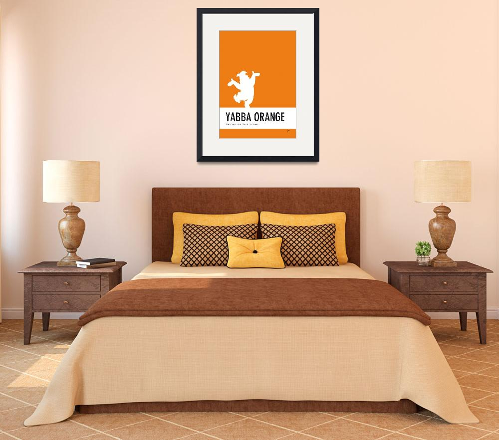 """""""No04 My Minimal Color Code poster Fred Flintstone&quot  by Chungkong"""