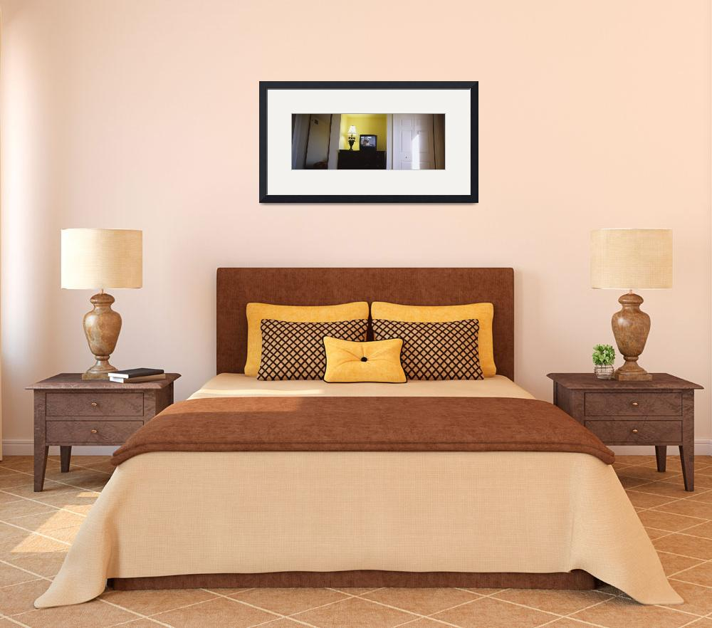 """""""Television and lamp in a hotel room&quot  by Panoramic_Images"""