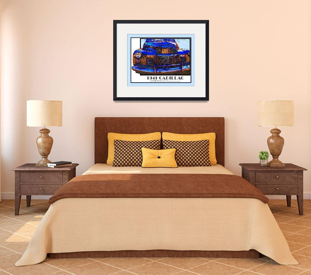 """""""1941 Cadillac - Blue Border&quot  (2009) by Automotography"""
