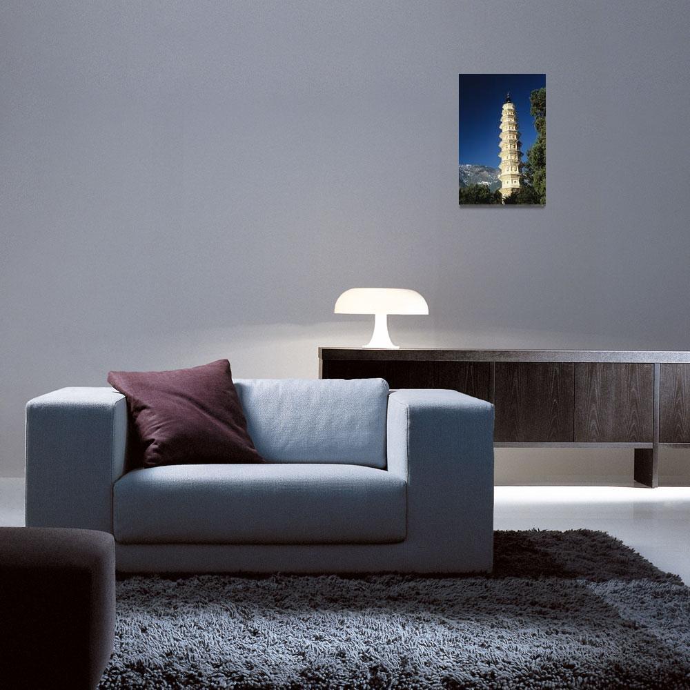 """China, Dali, One Of The Three Pagodas""  by DesignPics"