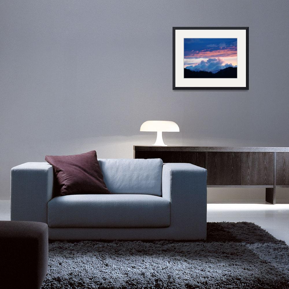 """""""OFFICE ART Collection Sunsets Blue Clouds Pink Sky&quot  (2009) by BasleeTroutman"""
