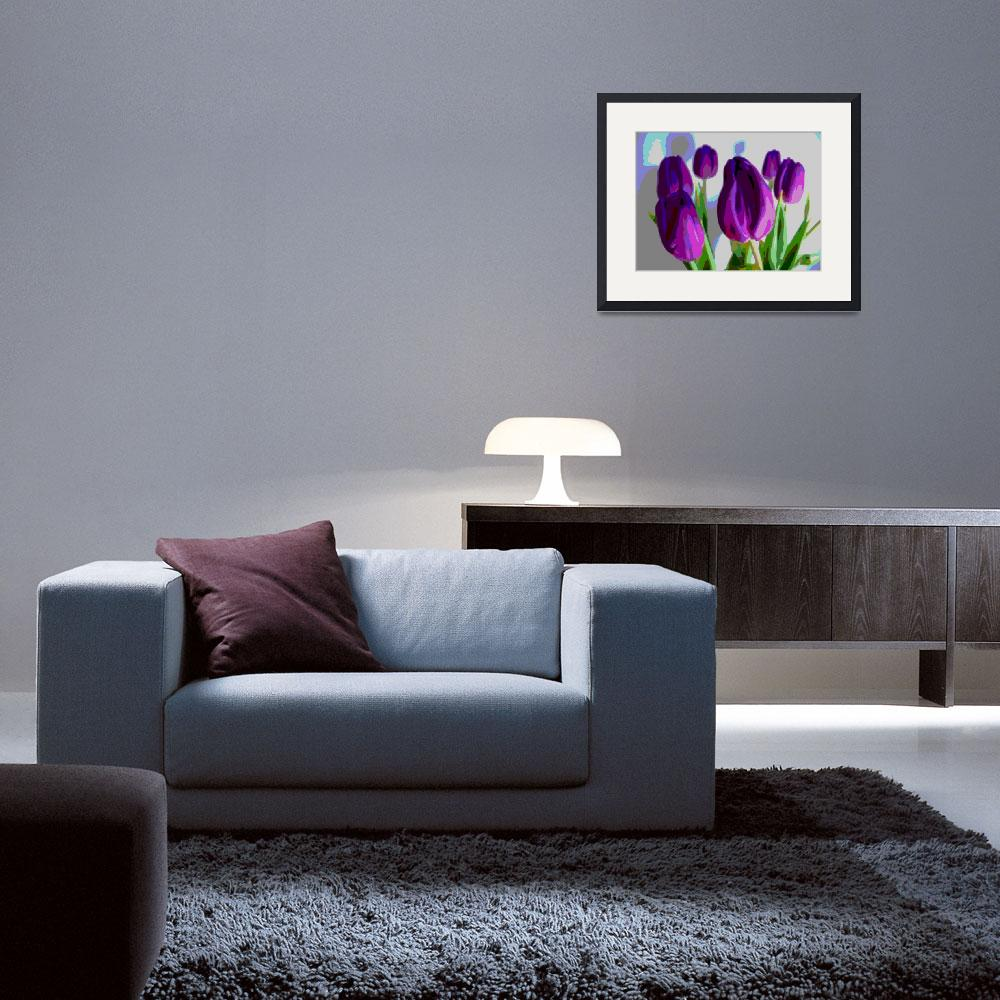 """""""Violet Tulips III""""  (2014) by TheNorthernTerritory"""