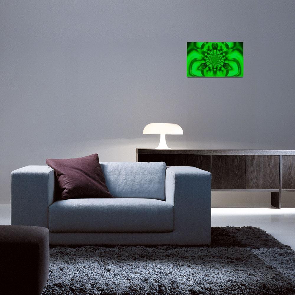 """Lotus in Green Satin""  by Atlantis-Seeker-Art"