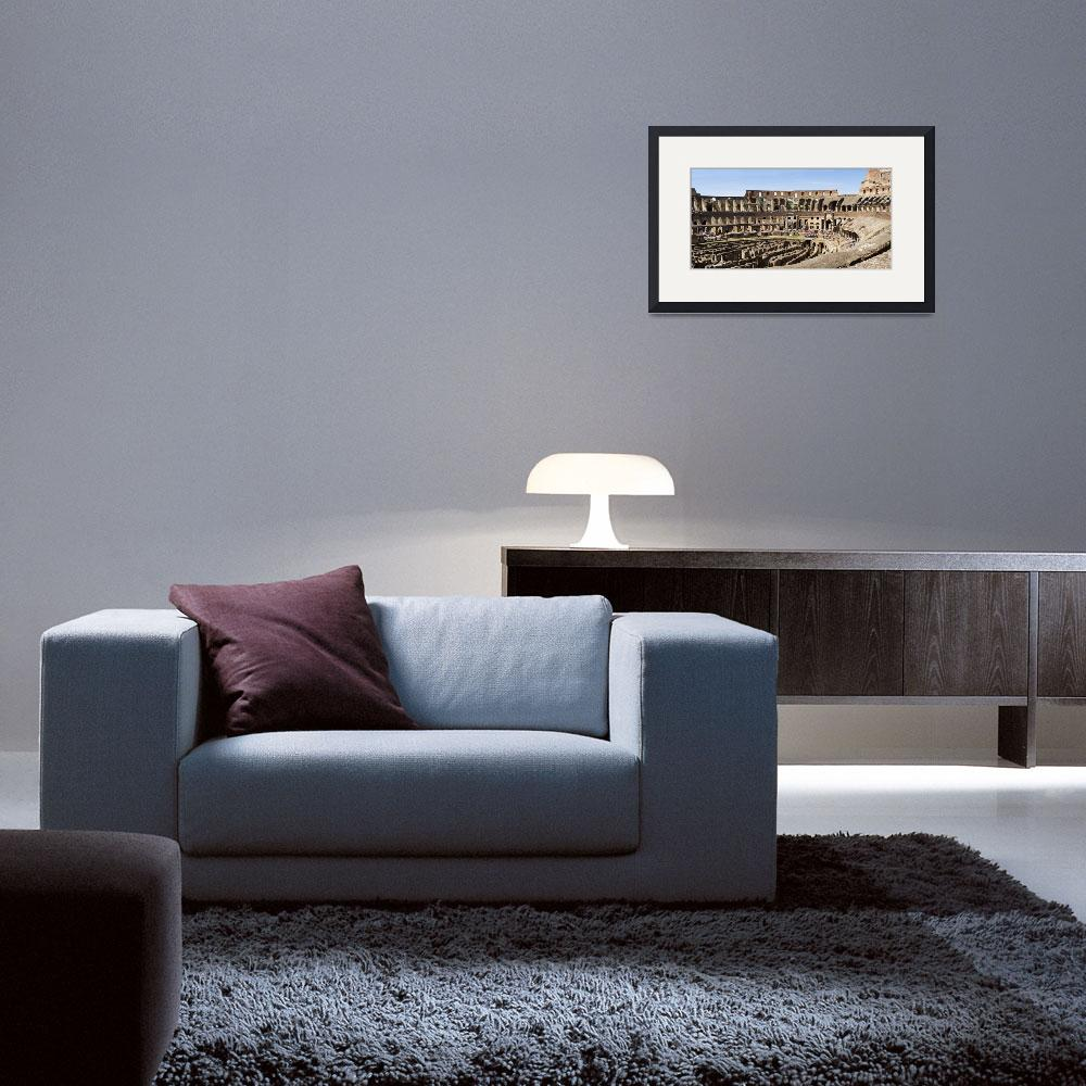 """""""Interiors of an amphitheater&quot  by Panoramic_Images"""